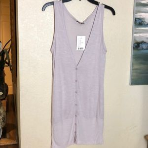 LUX Urban Outfitters Long VNeck Button Up Top